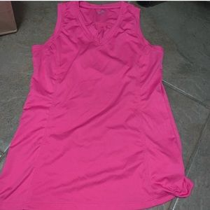 Champion pink semi fitted tank